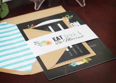 Chalkboard Style Wedding Invitation