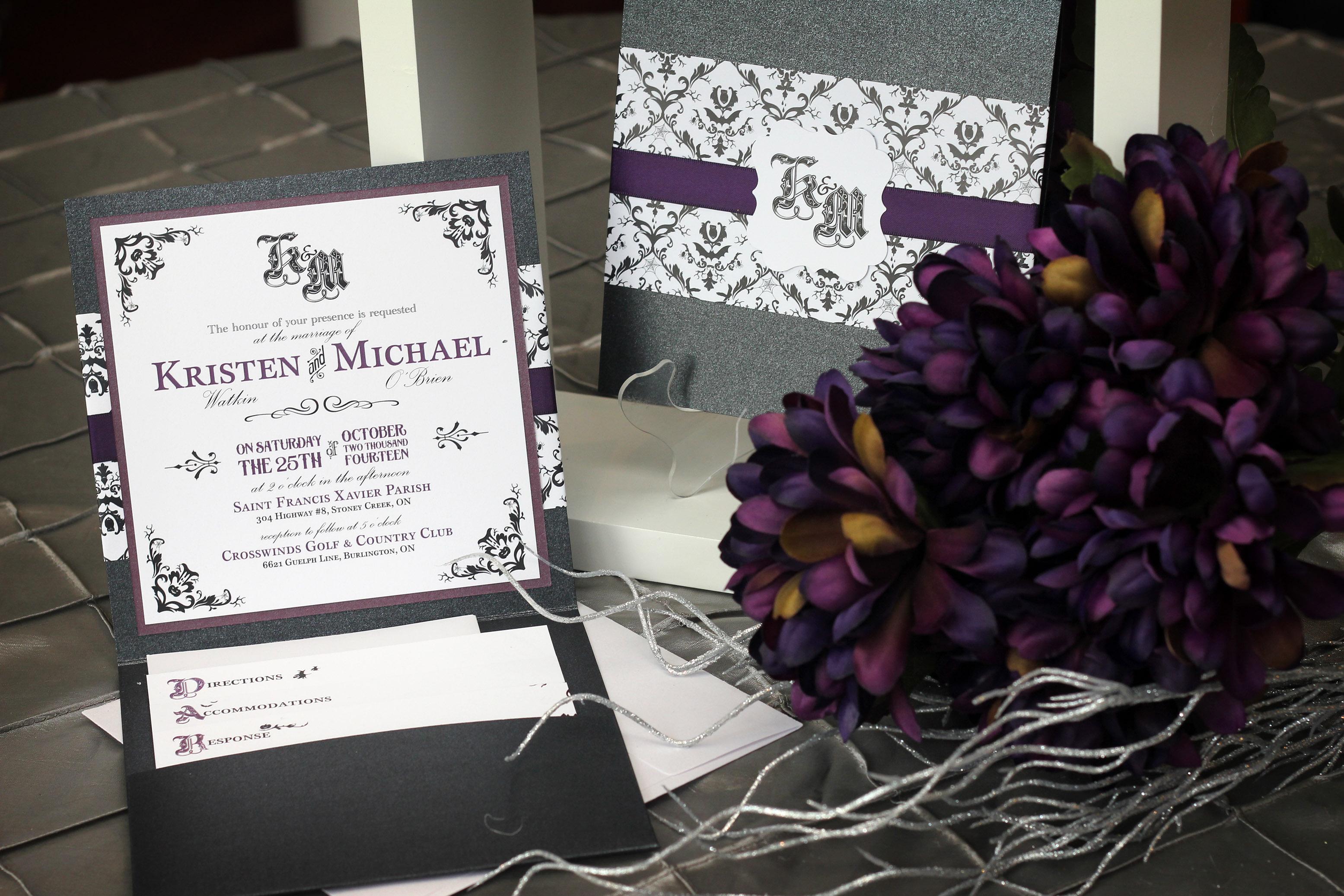 Halloween Wedding Vintage Gothic Pocketfold