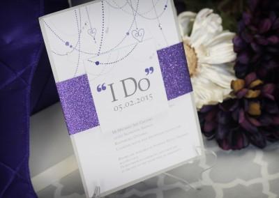 "Sparkly ""I do"" Glitter Wedding Invitation"