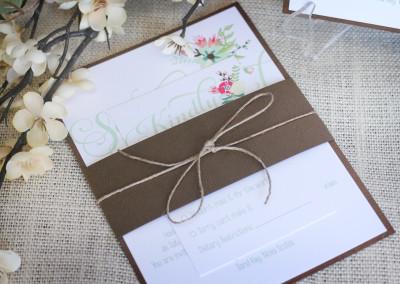 Elegant Rustic Wedding Invitation