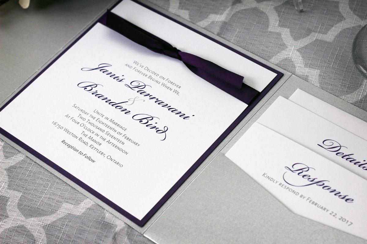 Classic Pocketfold Wedding Invitation
