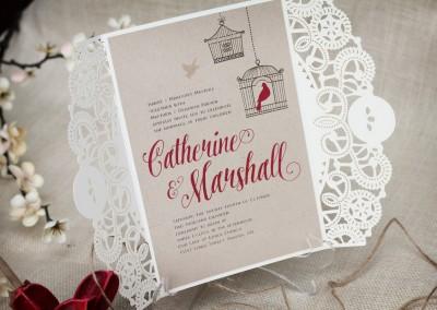Rustic Birdcage Wedding Invitation