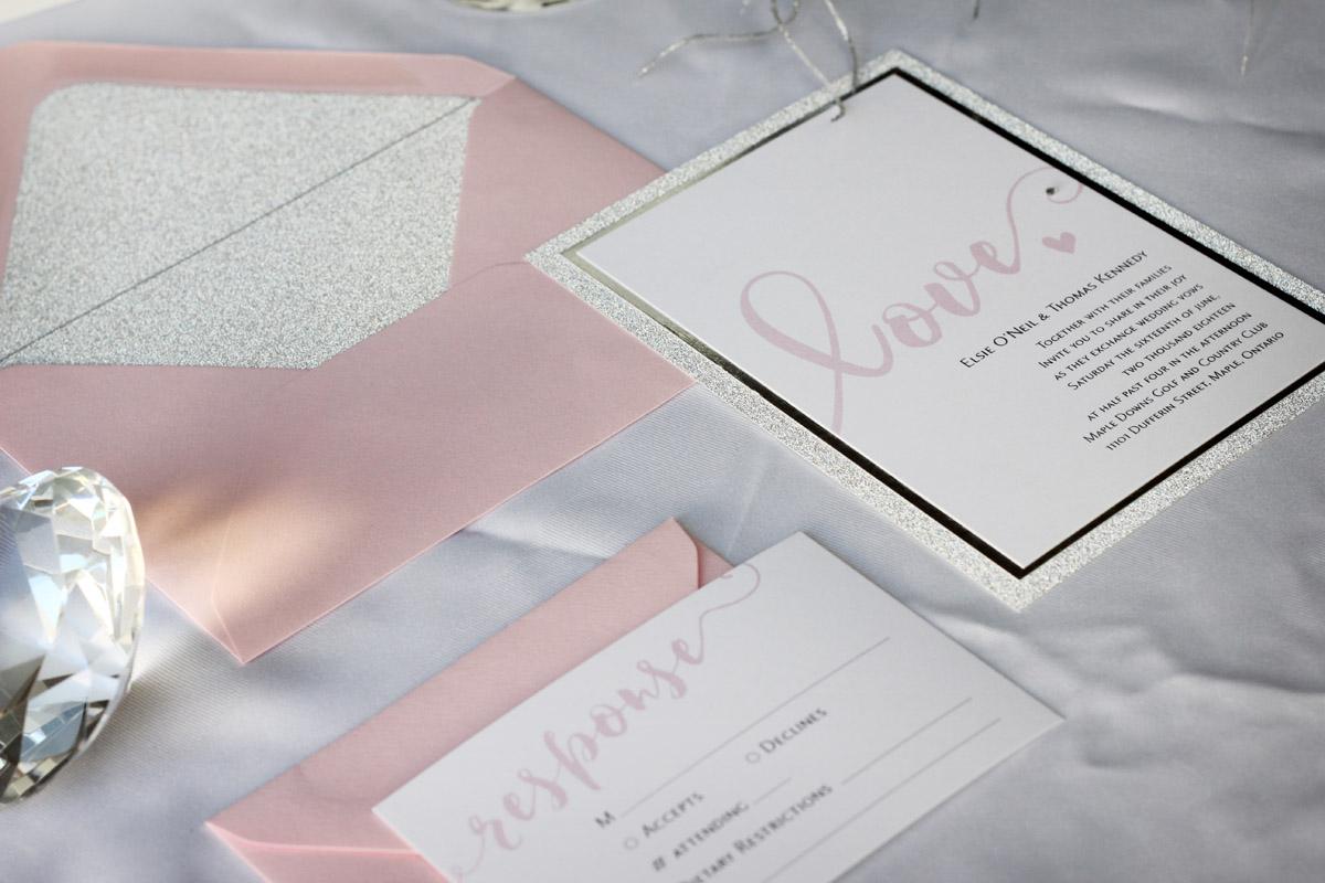 Sparkle and Glitz – Glitter Wedding Invitation
