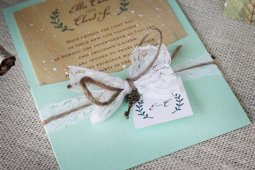 winter wedding invitation, rustic winter wedding, rustic wedding invitations, wedding invitations, winter invitations, wood invitations, wood wedding invitations, rustic wedding, lace invitations, skeleton key invitations