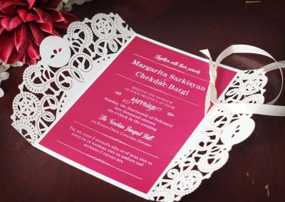 Red Valentine's Wedding Invitation