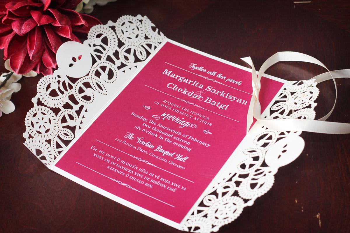 Red Valentine's Wedding Invitation