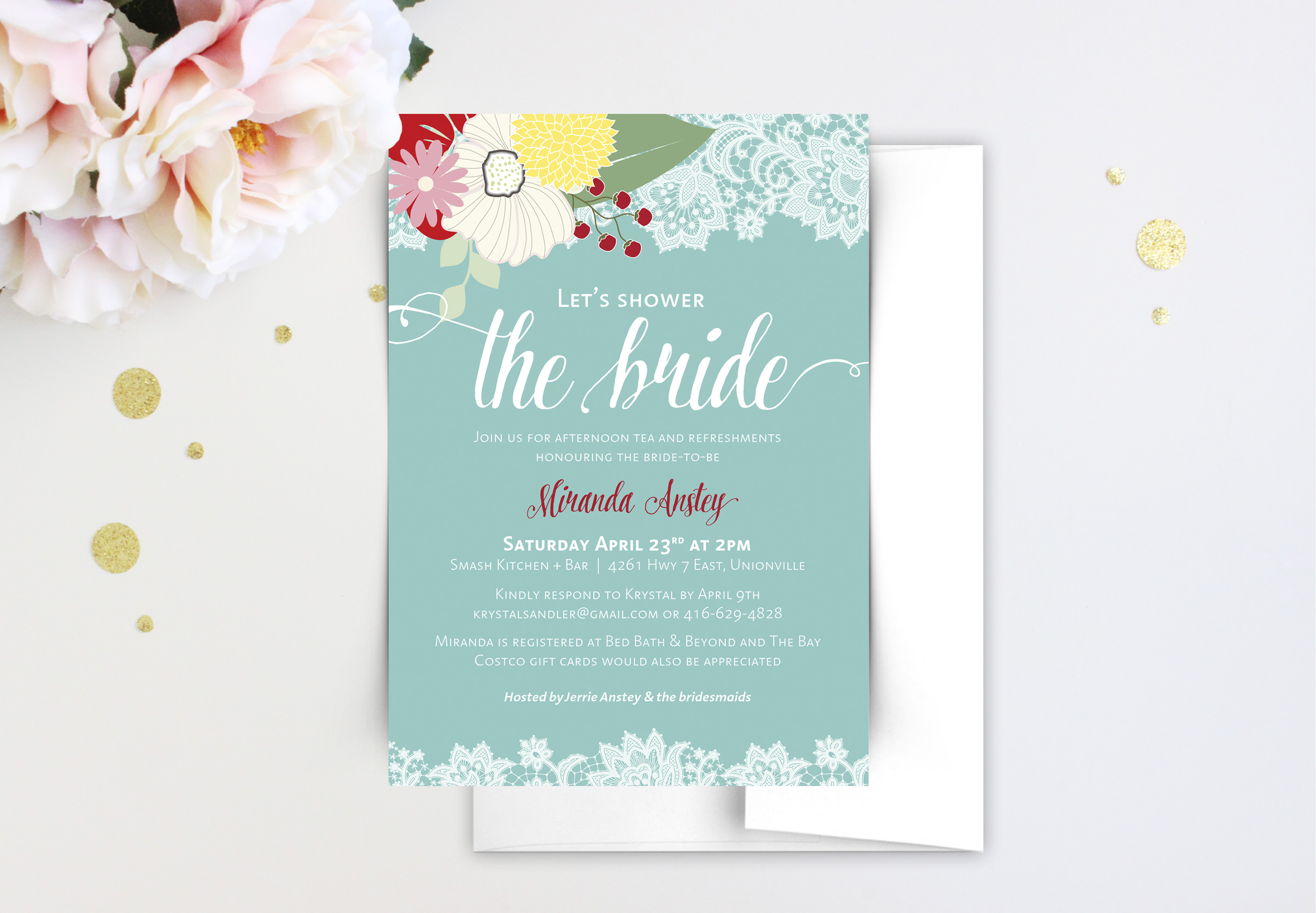 bridal shower invitations, beautiful bridal shower invitations, lace bridal shower invitations, custom bridal shower invitations, bridal shower cards, floral bridal invitations, elegant bridal invitations