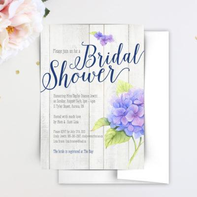 bridal shower invitations, beautiful bridal shower invitations, custom bridal shower invitations, bridal shower cards, floral bridal invitations, elegant bridal invitations, hydrangea bridal shower invitations, rustic bridal shower invitations, wood bridal shower invitations