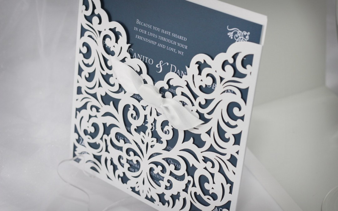 Classic Laser-cut Wedding Invitations