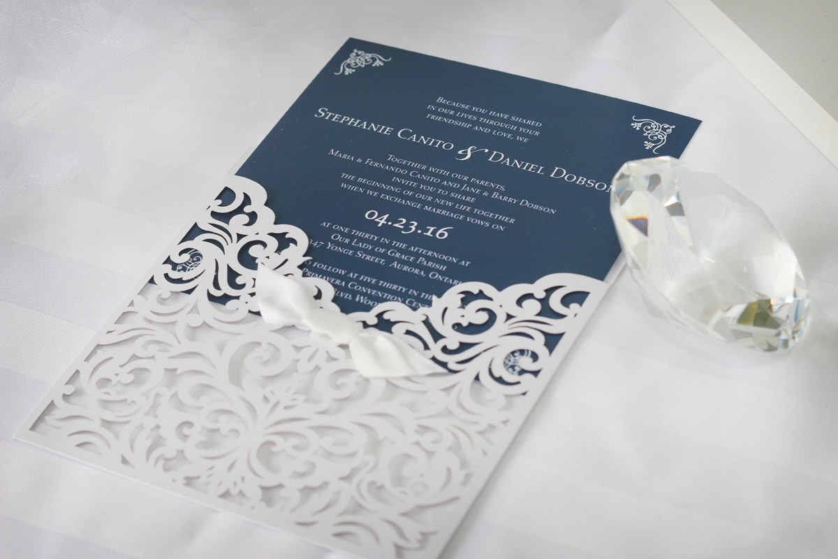 Classic Laser-cut Wedding Invitations - Impressions – Custom ...