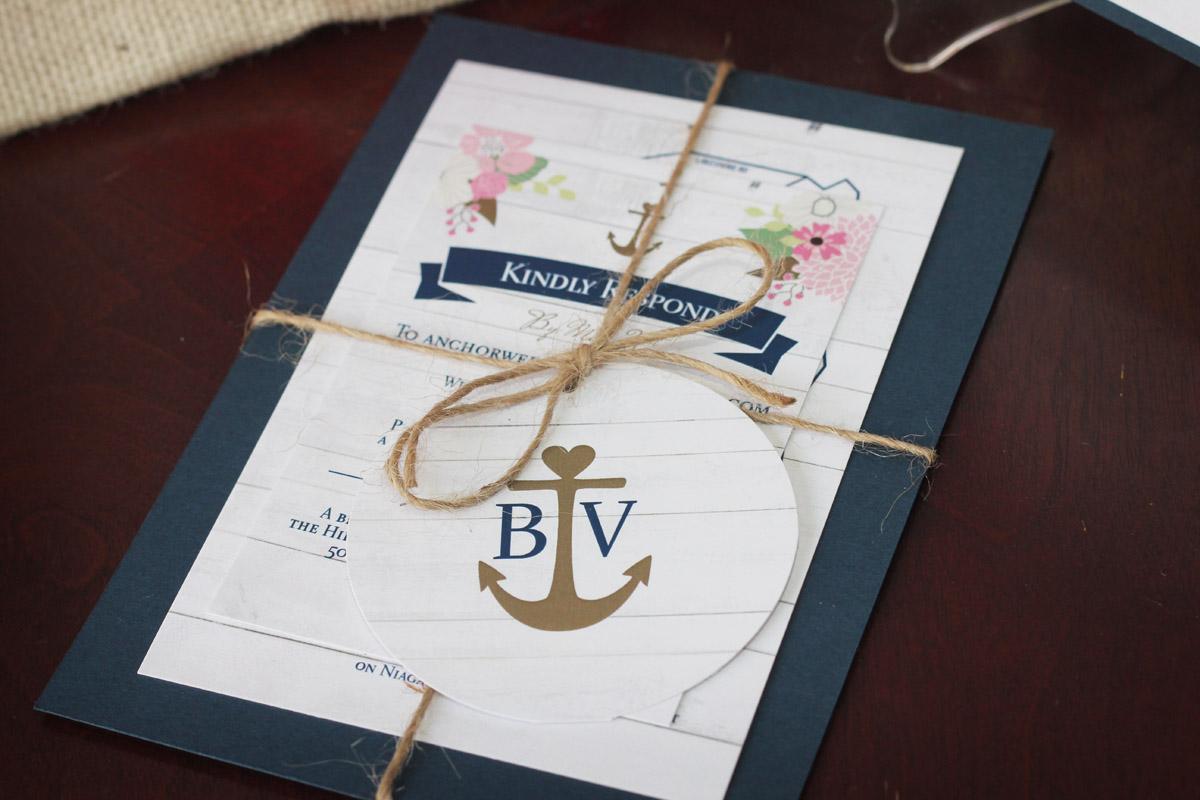 Rustic Nautical Wedding Invitation Suite Impressions Custom