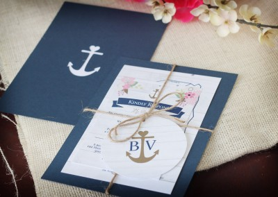 Rustic Nautical Wedding Invitation Suite