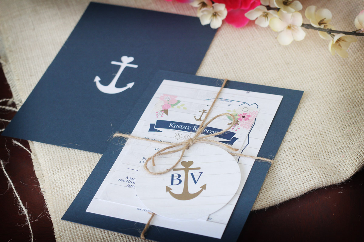 Rustic Nautical Wedding Invitation Suite