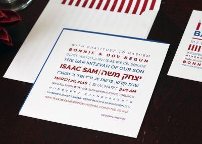 Modern, Square Bar Mitzvah Invitations