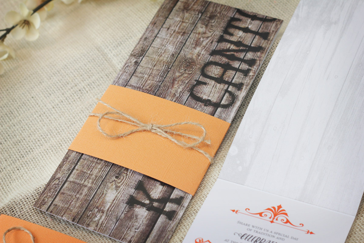 Rustic Bar Mitzvah Invitations