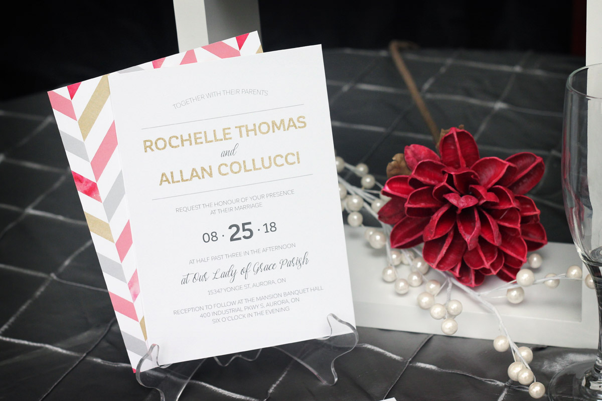 Bold chevron wedding invitation impressions custom invitations bold chevron wedding invitation impressions custom invitations for weddings and bar mitzvahs personalized baby gifts greater toronto area canada negle Choice Image