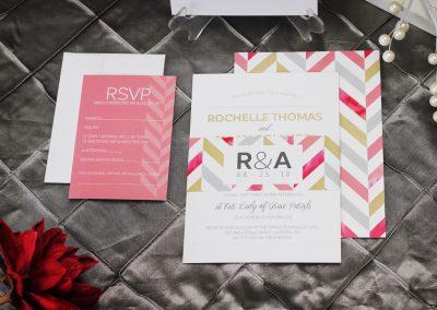 Bold Chevron Wedding Invitation