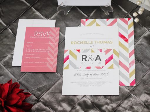 Bold Chevron Wedding Invitation