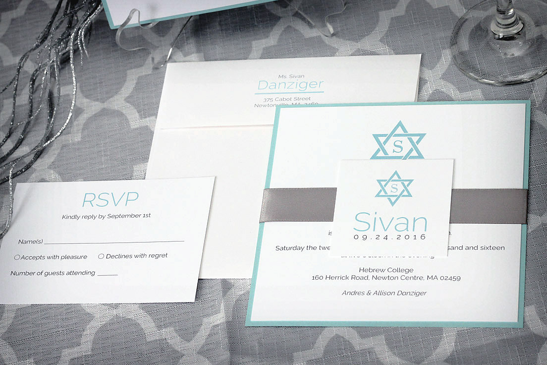 Classic Star of David Bar or Bat Mitzvah Invitation - Impressions ...