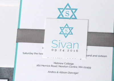 Classic Star of David Bar or Bat Mitzvah Invitation