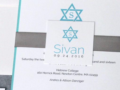 Classic Star of David Bar or Bat Mitzvah Invitation