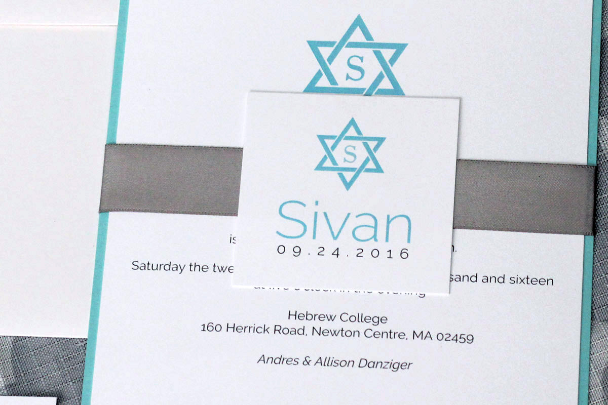 Classic star of david bar or bat mitzvah invitation impressions looking to add an rsvp card additional insert or upgrade to a coloured envelope contact us for pricing for additional add ons and upgrades negle Image collections
