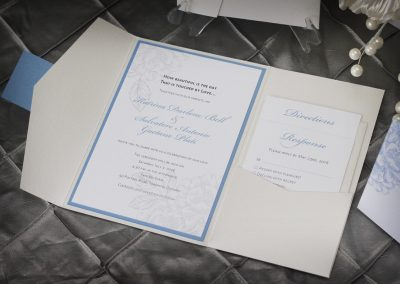 English Garden Pocket Fold Wedding Invitation