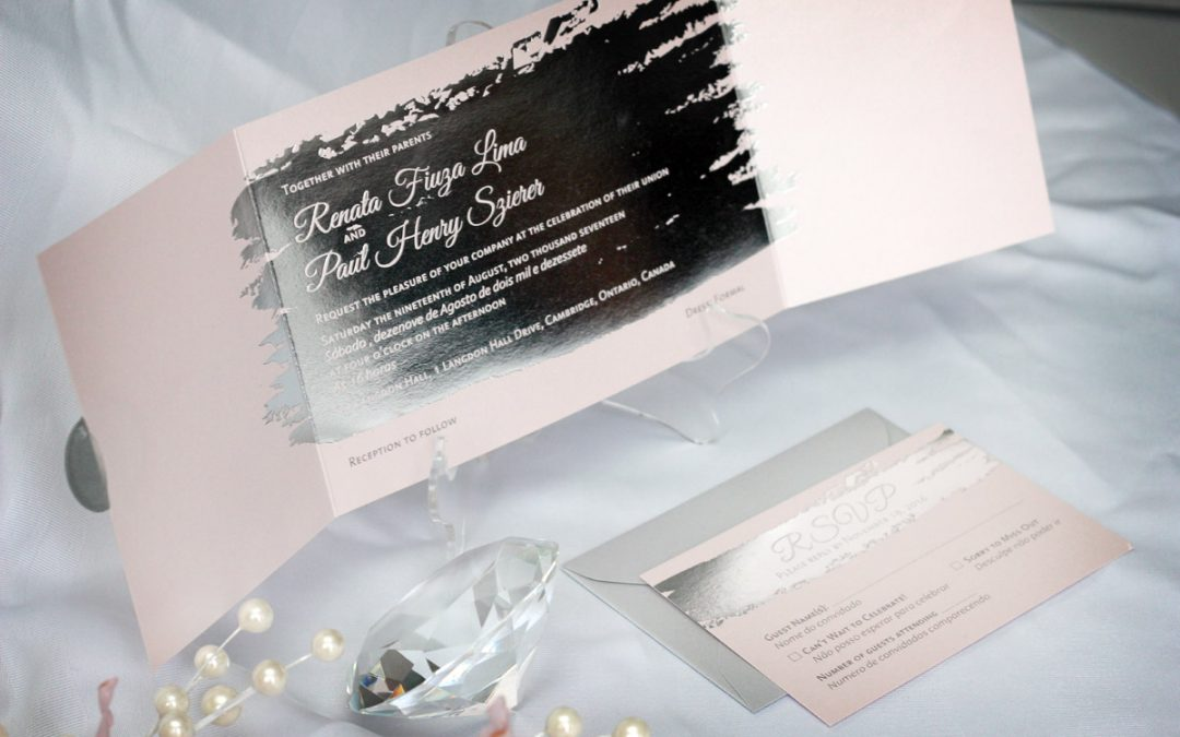 Foil stamped invitations archives impressions custom for Gold foil wedding invitations canada