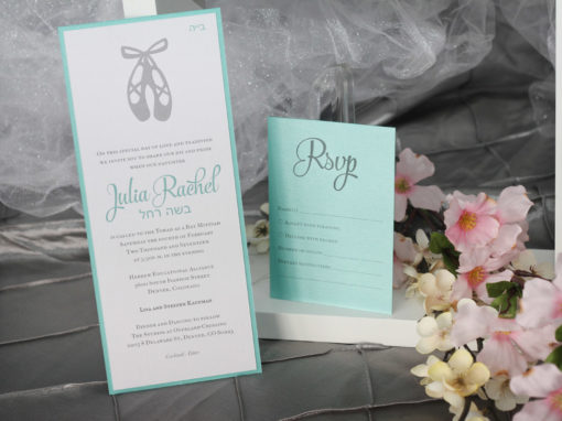 Ballet Bat Mitzvah Invitations