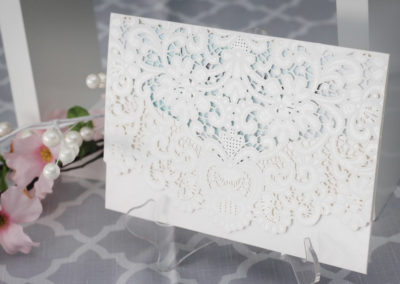 laser cut invitations, laser cut wedding invitations, lace wedding invitations, watercolour wedding invitations, romantic wedding invitations, laser cut lace invitations, laser cut wedding, watercolour wedding, white and mint wedding, mint wedding invitations, lacy wedding invitations, custom wedding invitations, wedding invitations GTA, wedding invitations Toronto