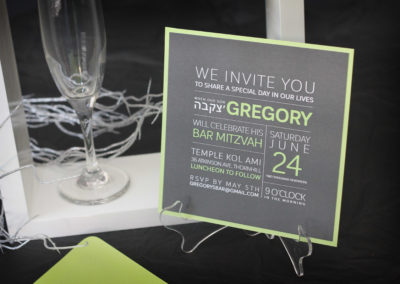 Modern Square Bar Mitzvah Invitations
