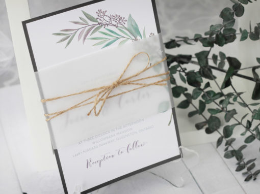 Rustic Tuscany Wedding Invitation