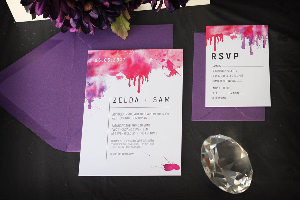 Watercolour Splash Wedding Invitation - Impressions – Custom ...