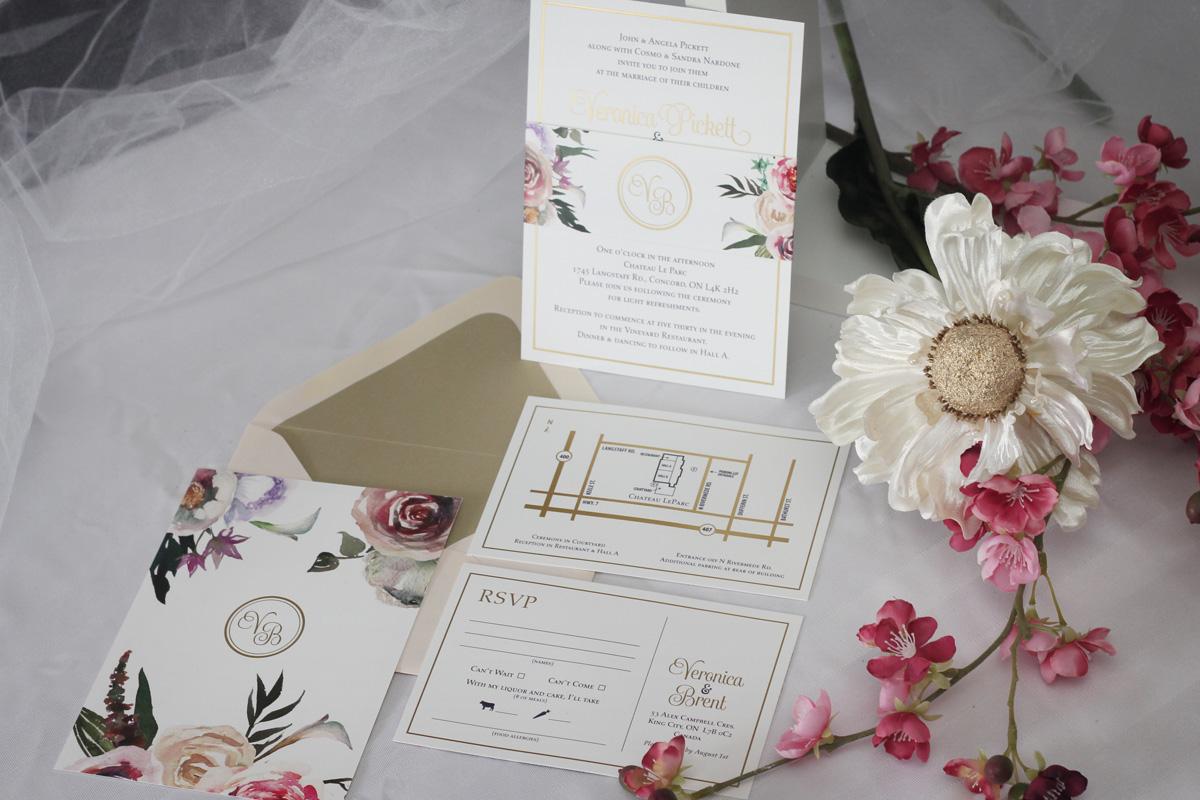 Gold Foil Wedding Invitations - Impressions – Custom Invitations for ...