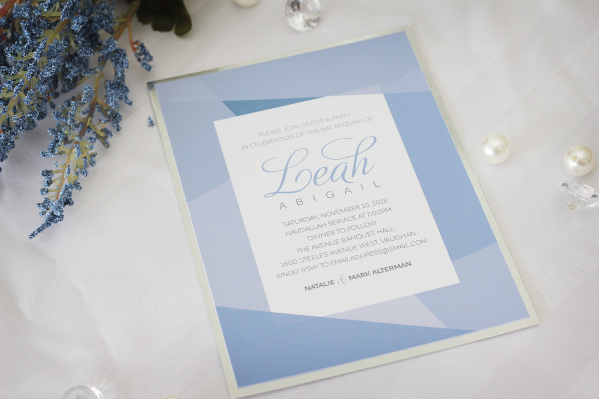 Sophisticated geometric bat mitzvah invitations sweet sixteen sweet sixteen invitations impressions custom invitations for weddings and bar mitzvahs personalized baby gifts greater toronto area canada negle Choice Image
