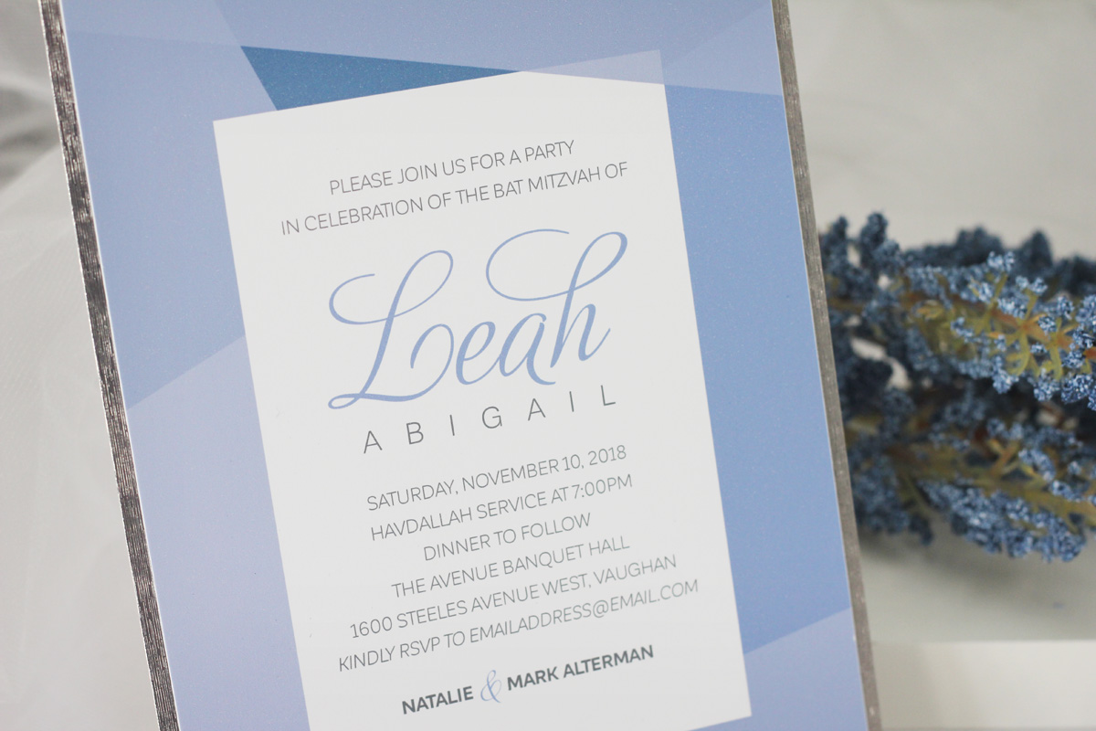 Sophisticated geometric bat mitzvah invitations sweet sixteen looking to add an rsvp card additional insert or upgrade to a coloured envelope contact us for pricing for additional add ons and upgrades negle Choice Image