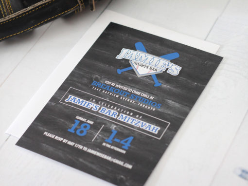 Sports Bar Mitzvah Invitations