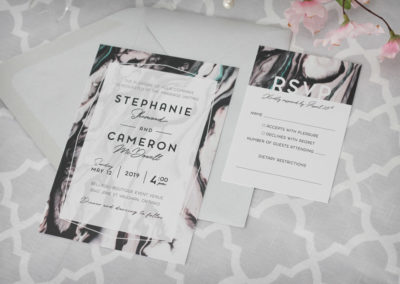 Modern Marble Swirl Wedding Invitation