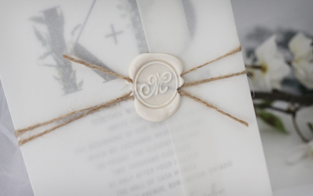 Rustic Wax Seal Wedding Invitations