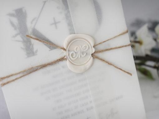 Rustic Wax Seal Wedding Invitations