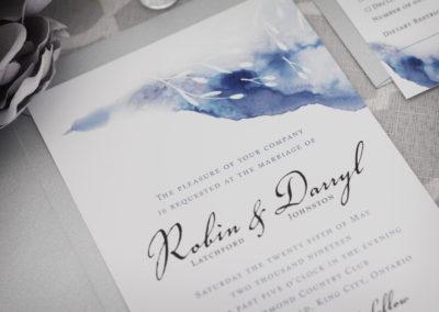 Bold Streak Whimsical Watercolour Wedding Invitations