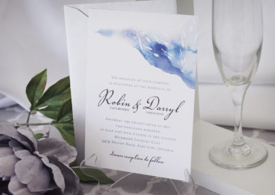 Whimsical Watercolour Streak Wedding Invitation