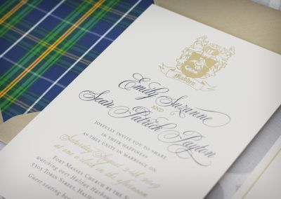 Celtic Foil Wedding Invitations
