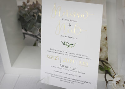 Contemporary Gold Foil Wedding Invitation