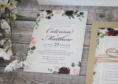 Autumn Watercolour Wedding Invitations