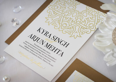 Mandala Gold Foil Wedding Invitations