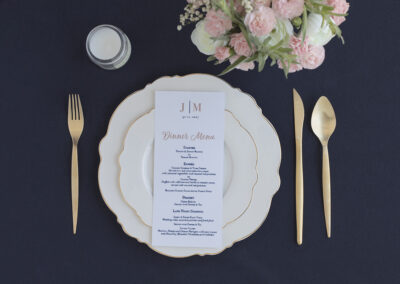 wedding menu cards