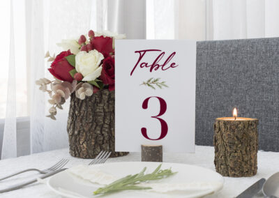 Rustic Wedding table number card