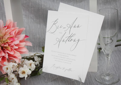 Contemporary simple wedding invitations