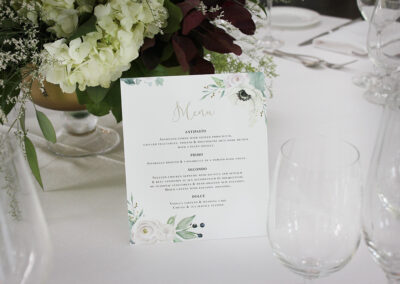Folded Wedding Menu Card